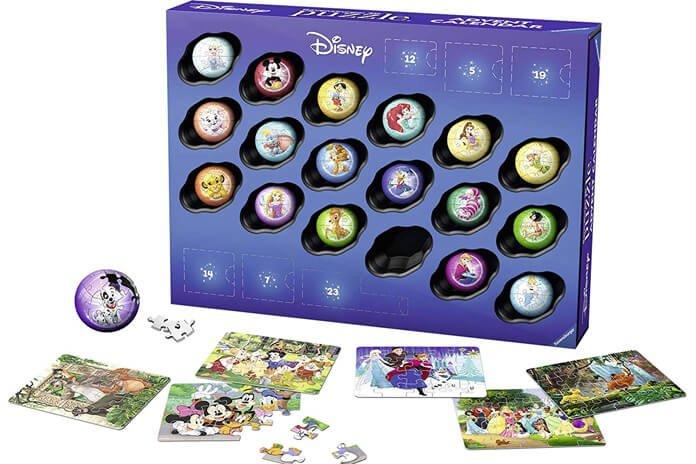 Disney Puzzel Adventskalender Ravensburger inhoud