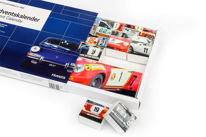 Porsche adventskalender inhoud