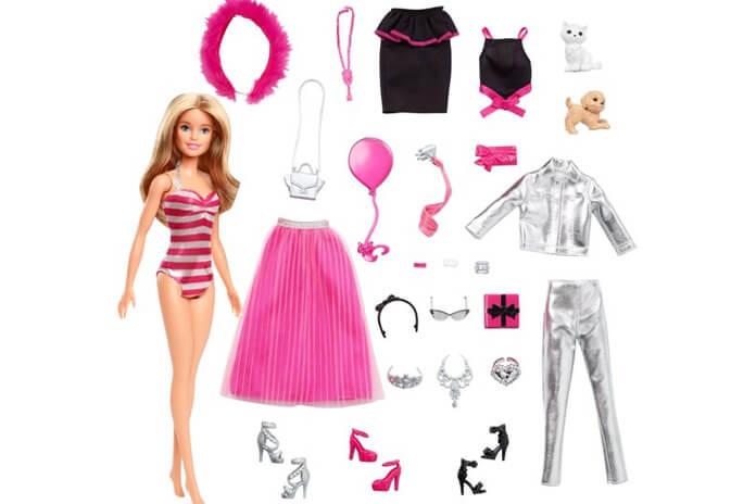 Barbie adventskalender 2019 inhoud