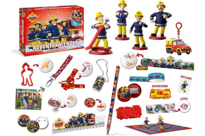 Brandweerman Sam adventskalender inhoud