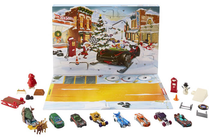 Hot Wheels adventskalender 2019 inhoud