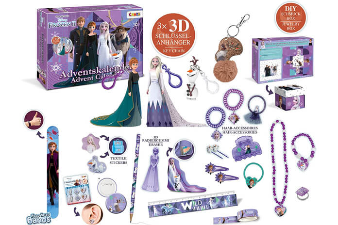 Frozen 2 adventskalender Inhoud