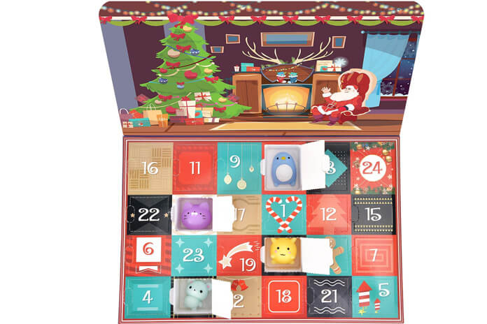 Squishy adventskalender inhoud
