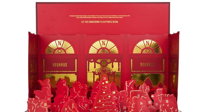 Neuhaus pop-up adventskalender bonbons