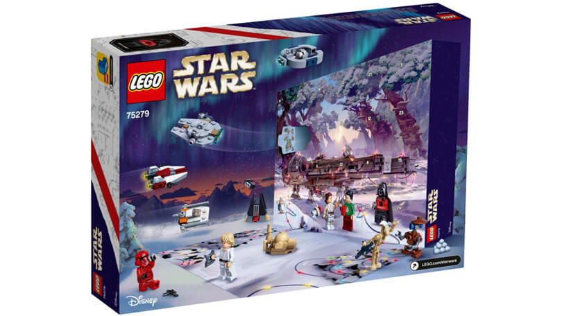 LEGO Star Wars adventskalender 2020 achterkant