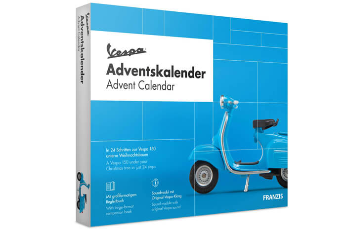 Vespa adventskalender scooter modelbouw