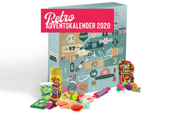 Retro snoep adventskalender