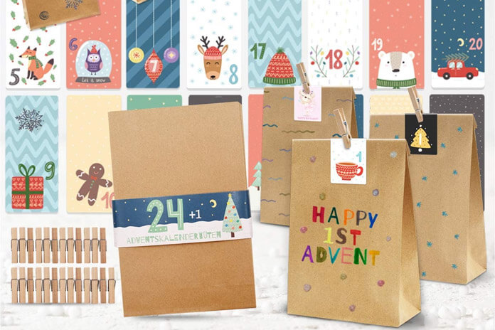 DIY papieren zakken adventskalender