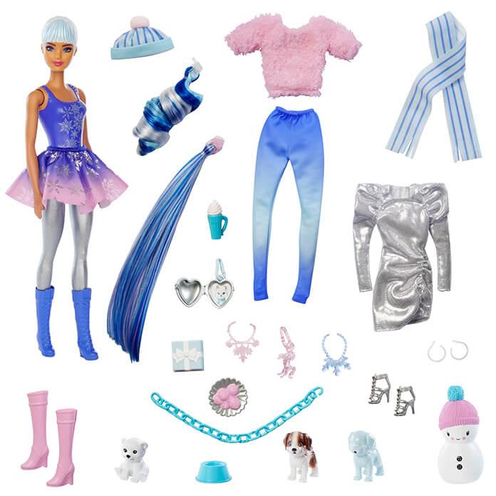 Barbie Color Reveal adventskalender inhoud