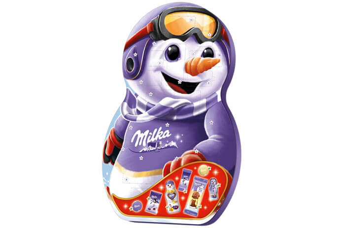 Milka sneeuwpop adventskalender